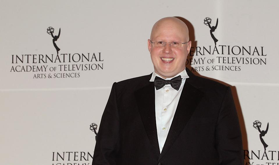 NEW YORK, NY - NOVEMBER 24:  Comedian Matt Lucas poses in the press room at the 2014 International Academy Of Television Arts & Sciences Awards at New York Hilton on November 24, 2014 in New York City.  (Photo by Jim Spellman/WireImage)