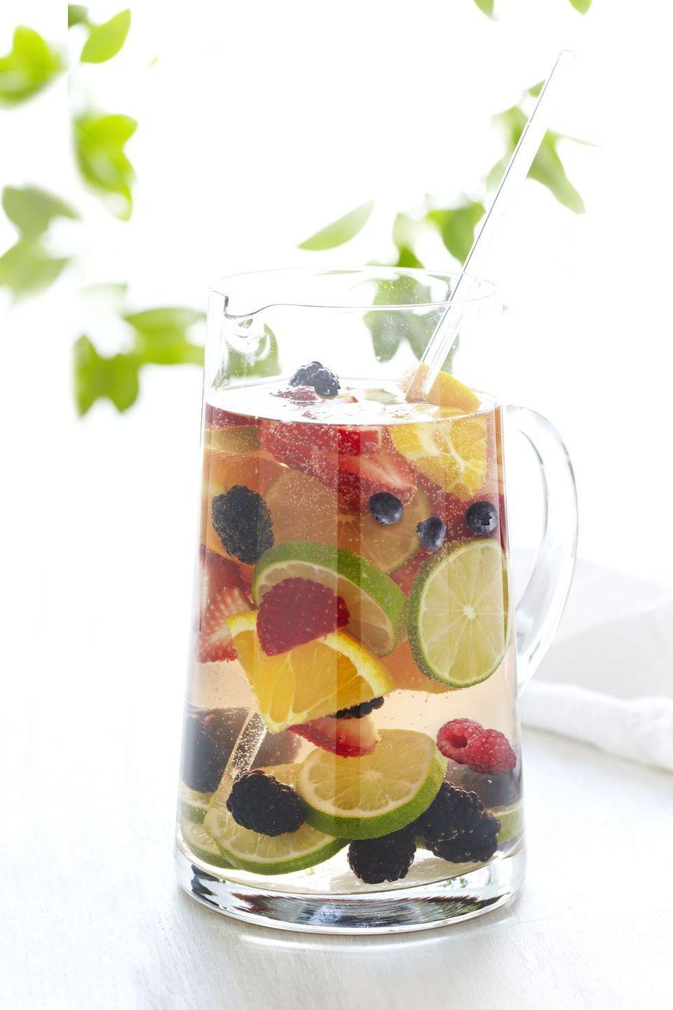 """<p>If it's a refreshing drink you're after, then look no further than this berry and citrus spritzer that includes rosé, orange liqueur, and a range of fruits and berries. </p><p><a href=""""https://www.goodhousekeeping.com/food-recipes/a15280/berry-citrus-spritzer-recipe-ghk0713/"""" rel=""""nofollow noopener"""" target=""""_blank"""" data-ylk=""""slk:Get the recipe for Berry and Citrus Spritzer »"""" class=""""link rapid-noclick-resp""""><em>Get the recipe for Berry and Citrus Spritzer »</em></a></p>"""