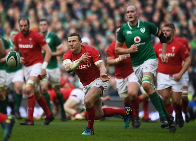 Rugby Union - Six Nations Championship - Ireland vs Wales - Aviva Stadium, Dublin, Republic of Ireland - February 24, 2018 Wales' Hadleigh Parkes in action REUTERS/Clodagh Kilcoyne