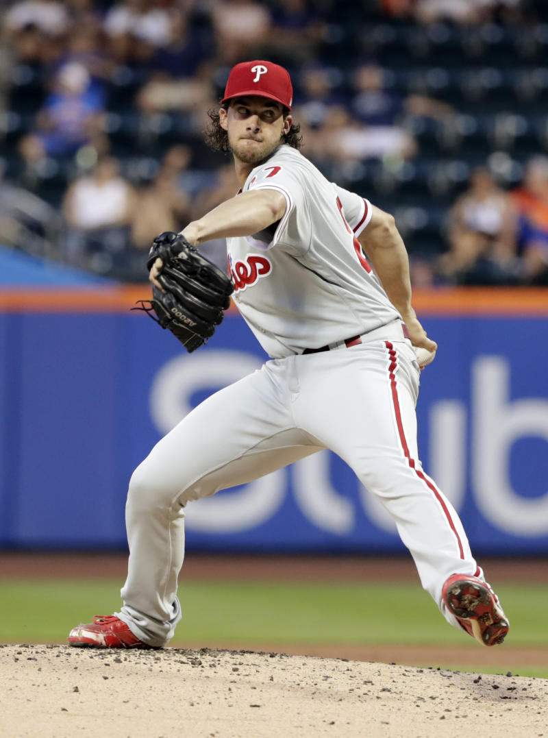 Nola leads Phillies past Mets 3-1 for doubleheader split