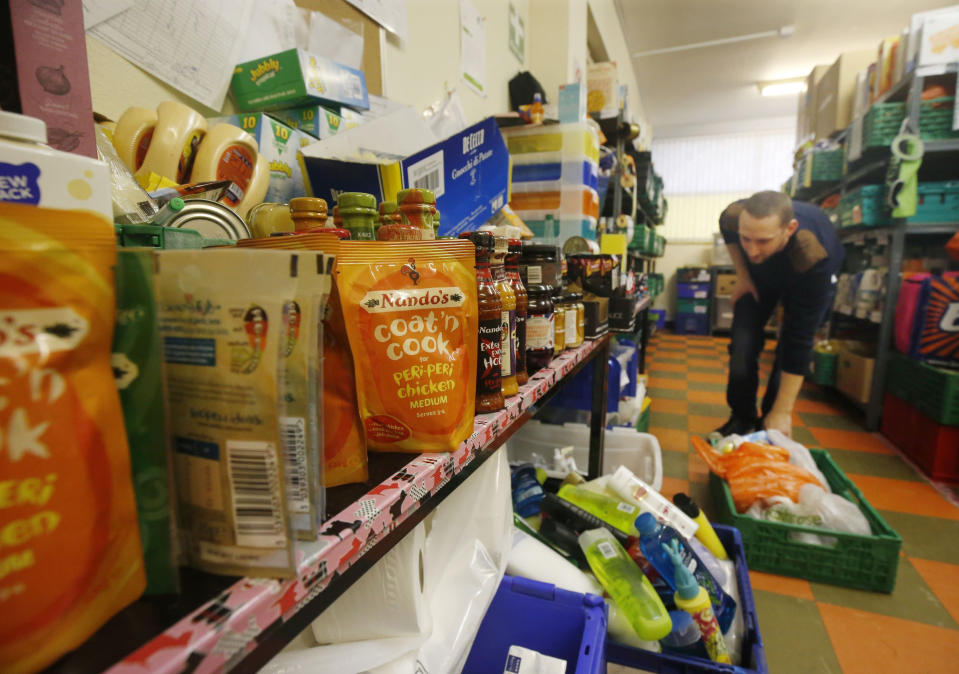 A Trussell Trust food bank (PA Images)