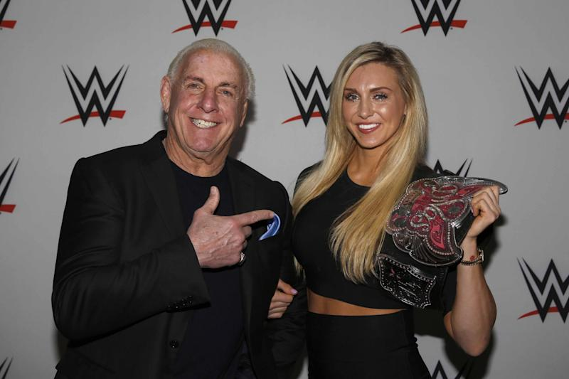 Charlotte, the daughter of 16-time world champion Ric Flair, is the WWE Women's Champion. (Getty Images)
