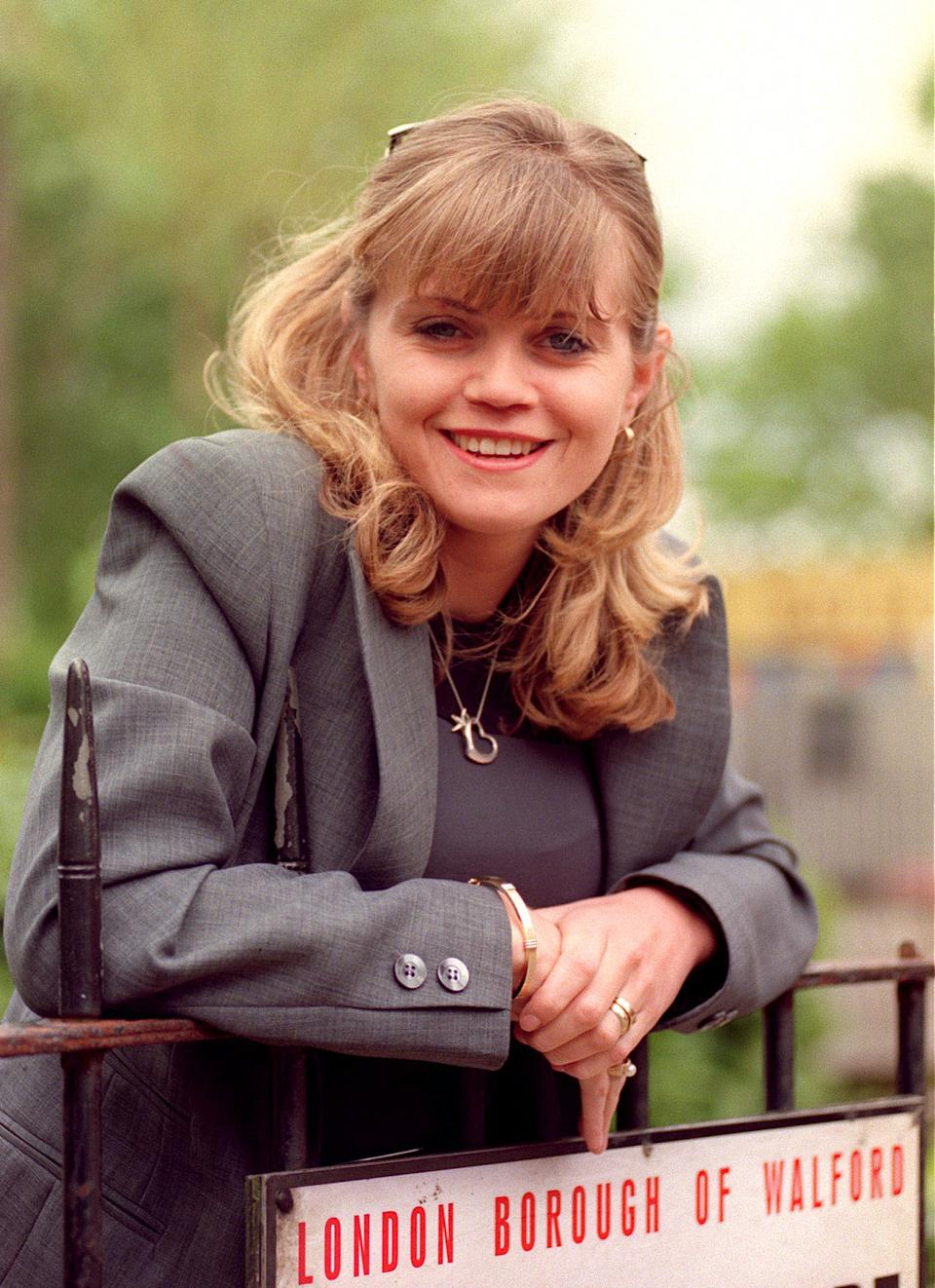 Actress Danniella Morgan (formerly Danniella Westbrook) is returning to television's Eastenders, as Ricky Butcher's ex-wife, and the Mitchell brothers' younger sister, Samantha.  * 11/5/1999 of actress Danniella Westbrook, who said she would have died from her drug use if she had not checked into a rehab clinic in Arizona earlier this year. The former EastEnder star, who had a long cocaine habit, had begun to use valium and collapsed at her manager Cheryl Barrymore's house before she started receiving treatment in the US. But Westbrook - who gave birth to her second child Jodie last month - told OK! magazine that she has now been clean for seven months and her family life gave her a new incentive to stay off drugs.   (Photo by Andrew Stuart - PA Images/PA Images via Getty Images)