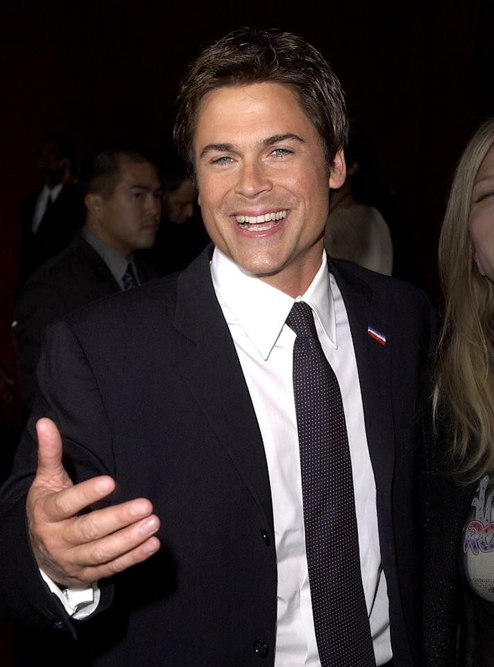 Rob Lowe arrives for the 53rd Annual Primetime Emmy Awards at Shubert Theater in Century City, California on November 4, 2001.