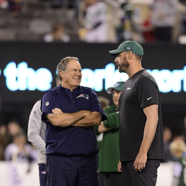 Adam Gase and Bill Belichick gave Jets fans one thing to smile about on Monday night