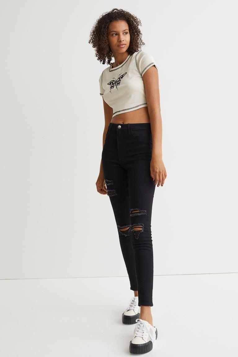 <p>If you love skinny jeans, take comfort in the fact that you're not alone. We like the rips in these <span>H&amp;M Super Skinny High Jeans</span> ($22, originally $25).</p>