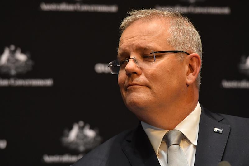 Australia's Prime Minister Scott Morrison has said the nation is on the road to recovery. (Photo by Sam Mooy/Getty Images)