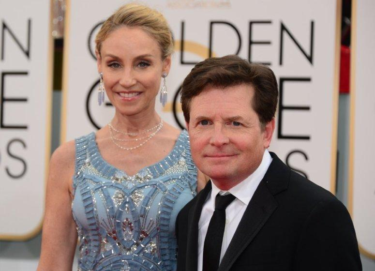 Michael J. Fox, with wife Tracy Pollan, was born June 9, 1961, in Edmonton, Canada.