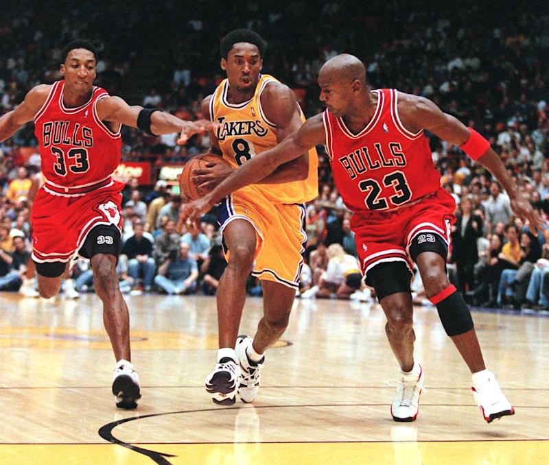 Who wins a Finals matchup featuring the two greatest shooting guards to ever play? (Vince Bucci/AFP via Getty Images)