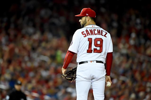 Anibal Sanchez will be a key contributor for the Nats in the NLCS. (Photo by Will Newton/Getty Images)