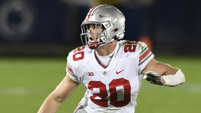 Ohio State linebacker Pete Werner has been a steady, versatile starter for three seasons. (AP Photo/Barry Reeger)
