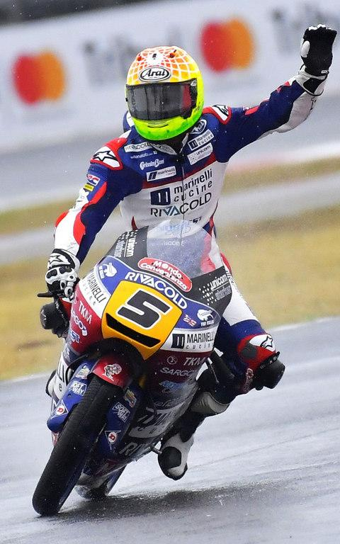 Fenati won the Moto3 at Misano earlier this month - Credit: MARCO BERTORELLO /AFP