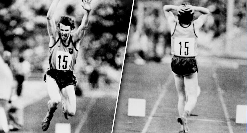 Ian Campbell thought he'd launched a gold-medal leap in the triple jump, only to learn the judge had ruled it a foul. (AP)