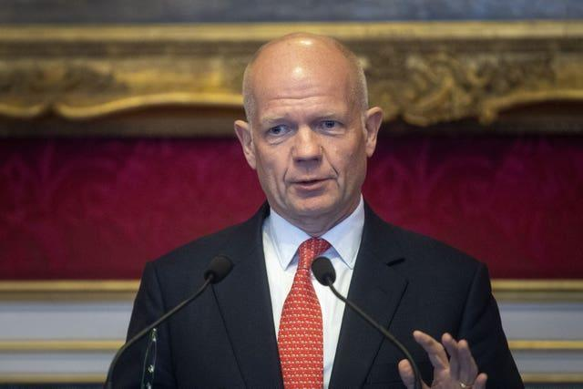Lord Hague has warned that tax rises will be required following a year of heavy borrowing