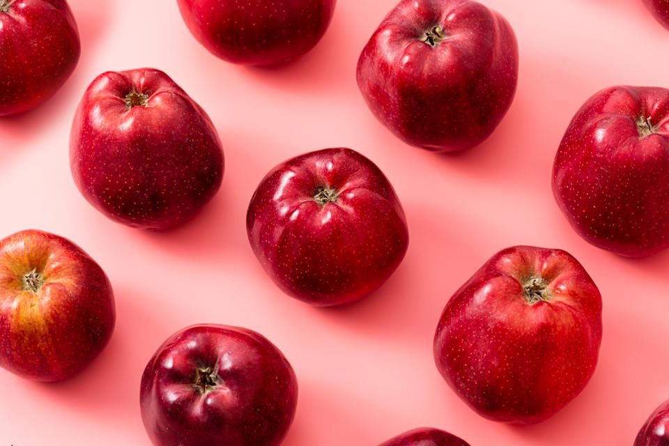 Red apples, healthy lifestyle