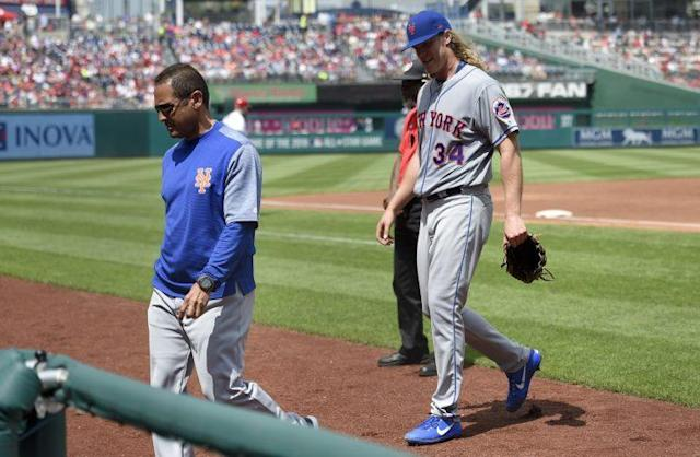 Noah Syndergaard has struggled with injuries already. (AP)