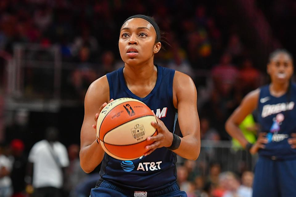 Atlanta's Renee Montgomery opted out of the WNBA season to focus on racial and social justice. (Photo by Rich von Biberstein/Icon Sportswire via Getty Images)
