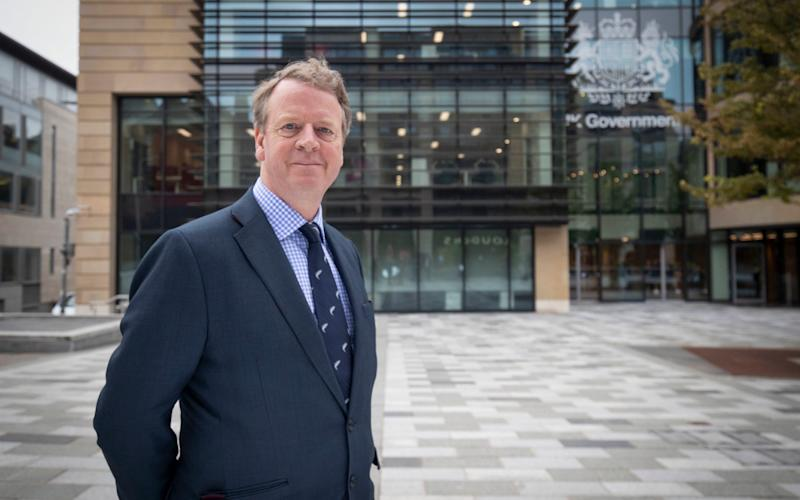 Secretary of State for Scotland Alister Jack outside Queen Elizabeth House, the new UK Government Hub in Edinburgh - Jane Barlow/PA