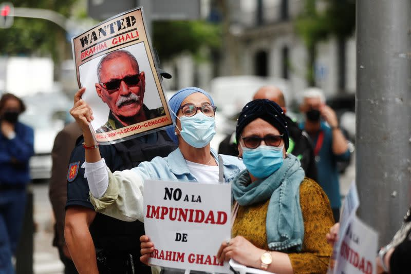 Protest against Secretary General of the Polisario Front Ghali, in Madrid