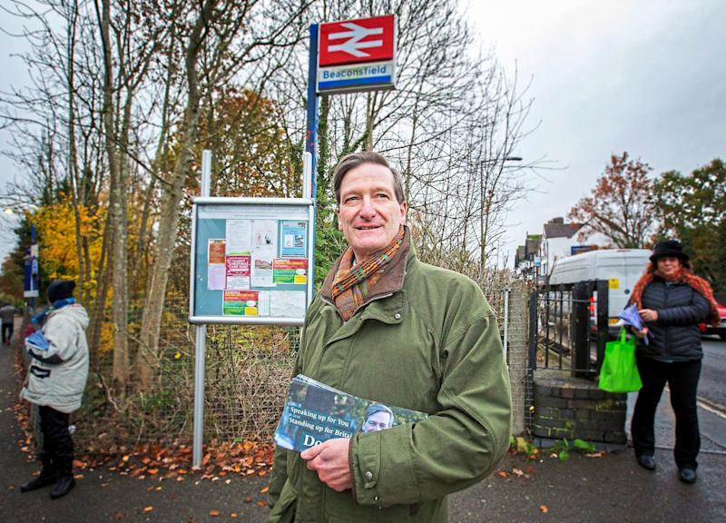 Former Conservative MP for Beaconsfield, now Independent candidate, Dominic Grieve, hits the campaign trail: Matt Writtle