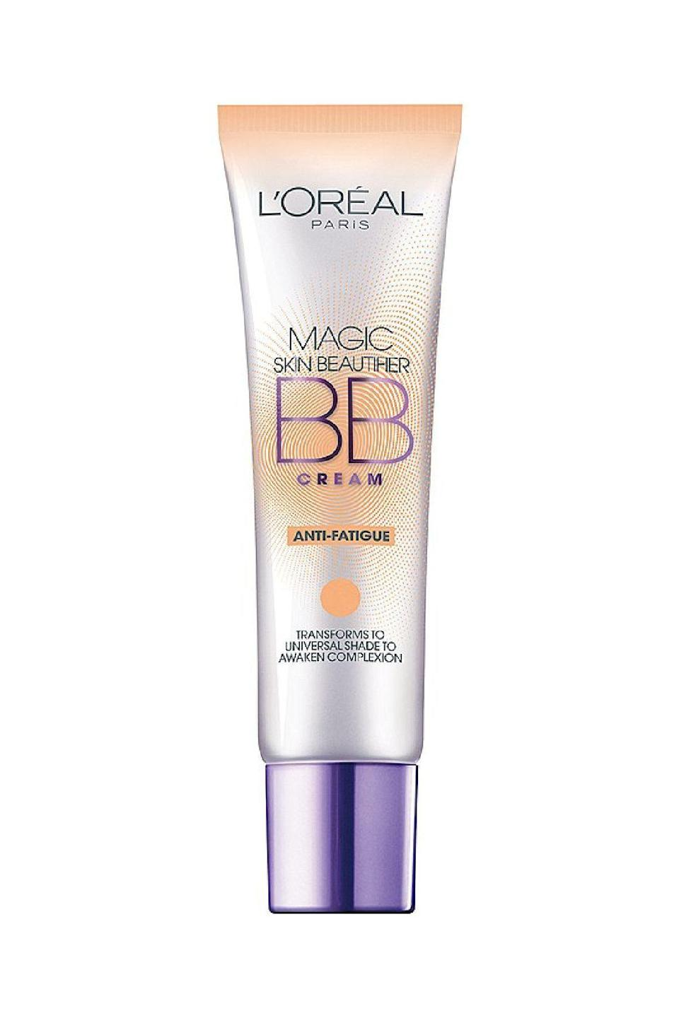 """<p><strong>L'Oreal Paris</strong></p><p>target.com</p><p><strong>$7.99</strong></p><p><a href=""""https://www.target.com/p/l-or-al-paris-magic-bb-correctors-1-00-fl-oz-anti-redness-820/-/A-15332367"""" rel=""""nofollow noopener"""" target=""""_blank"""" data-ylk=""""slk:SHOP IT"""" class=""""link rapid-noclick-resp"""">SHOP IT</a></p><p>While this product only comes in one shade, blending it into nearly any skin tone results in a brightened, evened complexion. Those with both fair or deeper complexions did prefer this layered under a daily foundation or bronzer.</p>"""