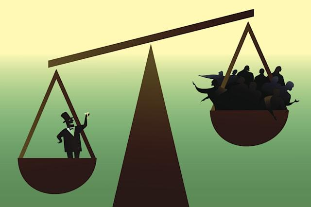social disparity: wealthy minority and the 99 per cent