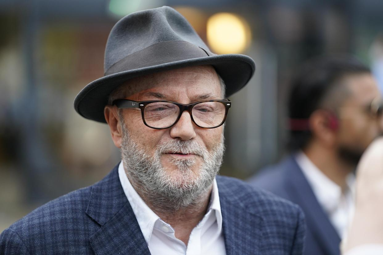 George Galloway after Kim Leadbeater won the Batley and Spen by-election to represent the seat previously held by her sister Jo Cox, who was murdered in the constituency in 2016. Picture date: Friday July 2, 2021.