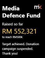 Latest update on the fundraiser by MalaysiaKini