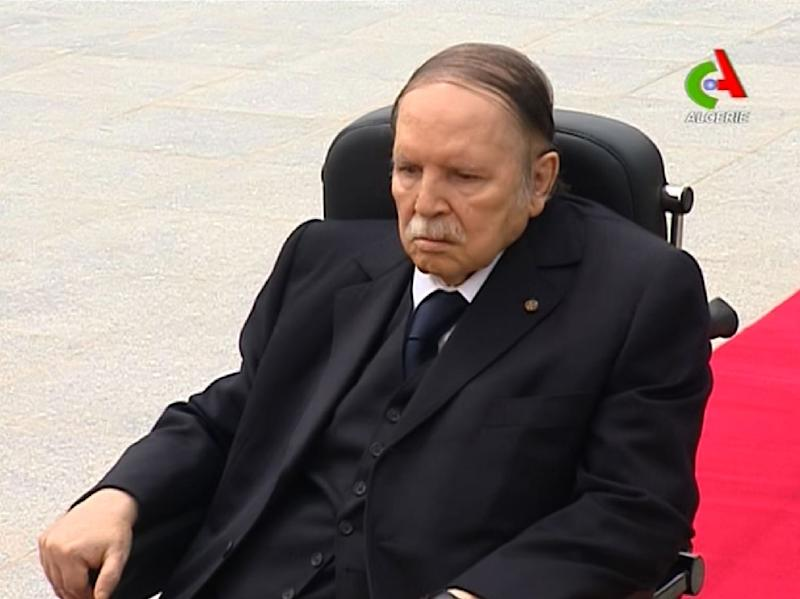Algerian President Abdelaziz Bouteflika, pictured in 2106, appeared on television receiving Algeria's minister for African Union and Arab League affairs