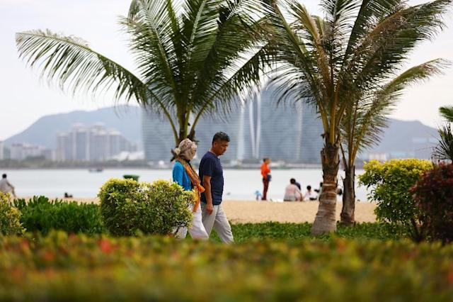 Hainan has not proven an international draw so far, attracting fewer than a million foreign visitors in 2016 (AFP Photo/STR)