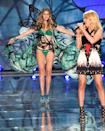 """<p>Gigi Hadid's excitement to be on the runway was so evident. It's possible she blew more kisses and smiled more than any other model out there — and that's saying something. Ellie Goulding belted out """"Army"""" as she stomped on by. </p>"""