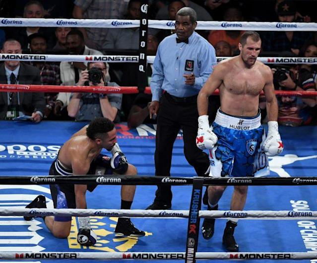 Kovalev knocked down Ward early in their first fight. (Getty Images)