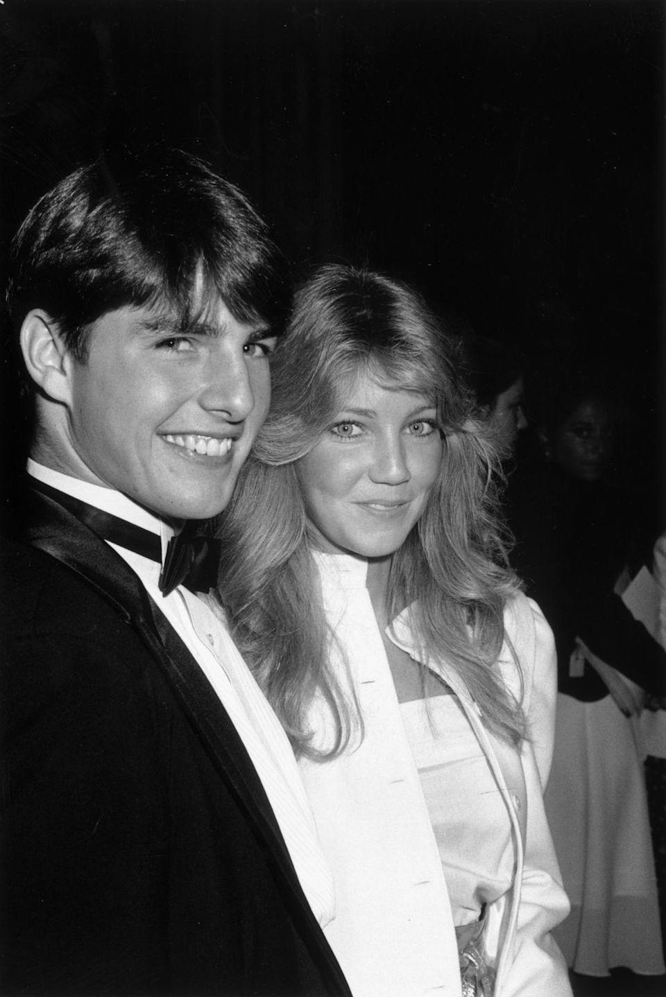 <p>Tom Cruise attended the premiere of <em>Taps </em>(his debut in a feature film) with then-girlfriend Heather Locklear in 1981. Shortly after, the actor's celebrity status was set when he became a member of Hollywood's Brat Pack alongside teen actors Rob Lowe and Emilio Estevez. </p>