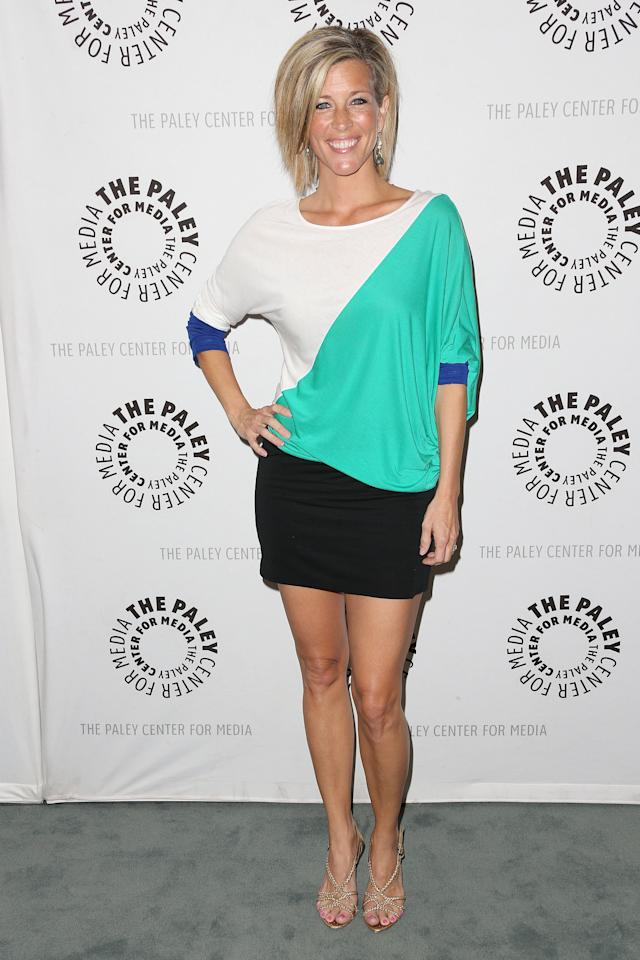 """BEVERLY HILLS, CA - APRIL 12: Actress Laura Wright attends The Paley Center for Media Presents """"General Hospital: Celebrating 50 years and Looking Forward"""" at The Paley Center for Media on April 12, 2013 in Beverly Hills, California.  (Photo by Frederick M. Brown/Getty Images)"""