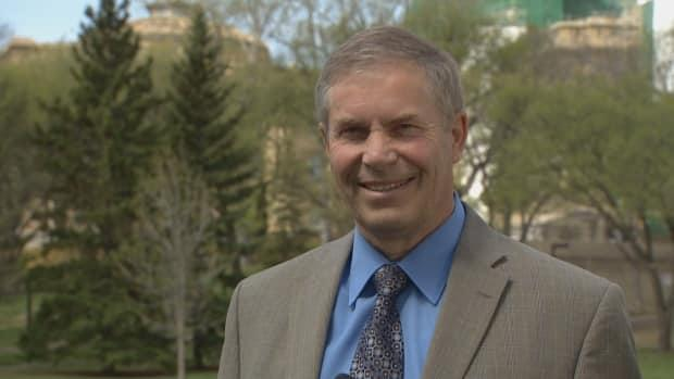 Paul Hinman, interim leader of the Wildrose Independence Party of Alberta, hopes his party can capitalize on the UCP troubles.  (Trevor Wilson/CBC - image credit)