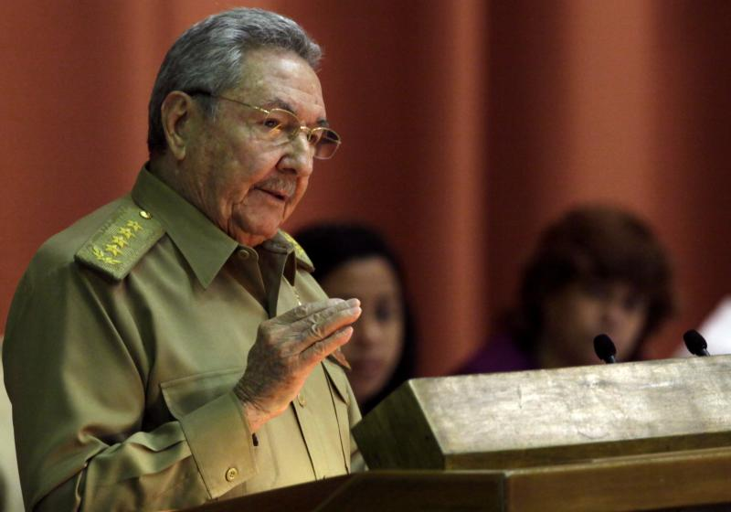 "Cuba's President Raul Castro delivers his speech at the closing of the second day of a twice-annual legislative sessions, at the National Assembly in Havana, Cuba, Saturday, Dec. 21, 2013. Castro issued a stern warning to entrepreneurs pushing the boundaries of Cuba's economic reform, saying ""those pressuring us to move faster are moving us toward failure.""(AP Photo/Cubadebate, Ismael Francisco))"
