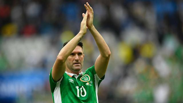 Republic of Ireland's Robbie Keane signed off his international career with a goal in an easy 4-0 win over Oman.