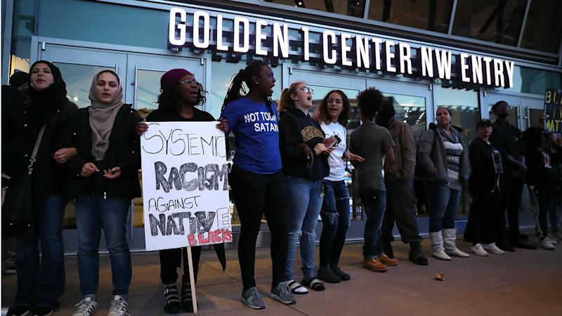 Stephon Clark protests: Kings-Pacers goes off without disruption
