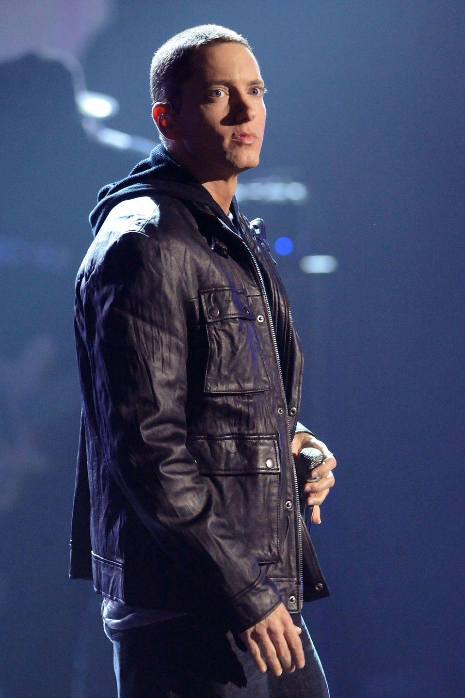 """<p>The Grammy-winning rapper was sued by mother Debbie Mathers-Briggs in 1999, when he was 26 years old. According to <em><a href=""""https://www.rollingstone.com/music/news/eminem-sued-by-his-mom-19990920"""" rel=""""nofollow noopener"""" target=""""_blank"""" data-ylk=""""slk:Rolling"""" class=""""link rapid-noclick-resp"""">Rolling</a> </em><em><a href=""""https://www.rollingstone.com/music/news/eminem-sued-by-his-mom-19990920"""" rel=""""nofollow noopener"""" target=""""_blank"""" data-ylk=""""slk:Stone"""" class=""""link rapid-noclick-resp"""">Stone</a></em>, Eminem """"slandered her in various broadcast and print interviews, by implying she was an unstable drug abuser."""" Debbie wanted $10 million in damages. Wowza.</p><p>According to Eminem's lawyer, Debbie had """"been threatening to sue him since the success of his single 'My Name Is...'""""</p><p><a href=""""http://www.mtv.com/news/1585515/freestyling-with-eminem-1999-in-the-loder-files/"""" rel=""""nofollow noopener"""" target=""""_blank"""" data-ylk=""""slk:Eminem claimed"""" class=""""link rapid-noclick-resp"""">Eminem claimed</a> he ended up having to raise young brother Nate on his own. According to Debbie, Eminem's lyrics about his upbringing were fabrications.</p><p>""""I wasn't happy when he made up a whole new life for himself — what mother wants to be known as a pill-popping alcoholic who lives on welfare? To tell the truth, I was heartbroken. The lies started coming thick and fast — and not just from Marshall. ... I think he's forgotten the good times we had,"""" she <a href=""""http://www.mtv.com/news/1595061/eminems-mom-tells-her-side-of-the-story-in-new-memoir/"""" rel=""""nofollow noopener"""" target=""""_blank"""" data-ylk=""""slk:told MTV News"""" class=""""link rapid-noclick-resp"""">told MTV News</a> in 2008, while promoting her memoir, <em><a href=""""https://www.amazon.com/My-Son-Marshall-Eminem/dp/184454673X/ref=sr_1_2?ie=UTF8&qid=1519231115&sr=8-2&keywords=My+Son+Marshall%2C+My+Son+Eminem&tag=syn-yahoo-20&ascsubtag=%5Bartid%7C10049.g.37186525%5Bsrc%7Cyahoo-us"""" rel=""""nofollow noopener"""" target=""""_blank"""" data-ylk=""""slk:My Son """