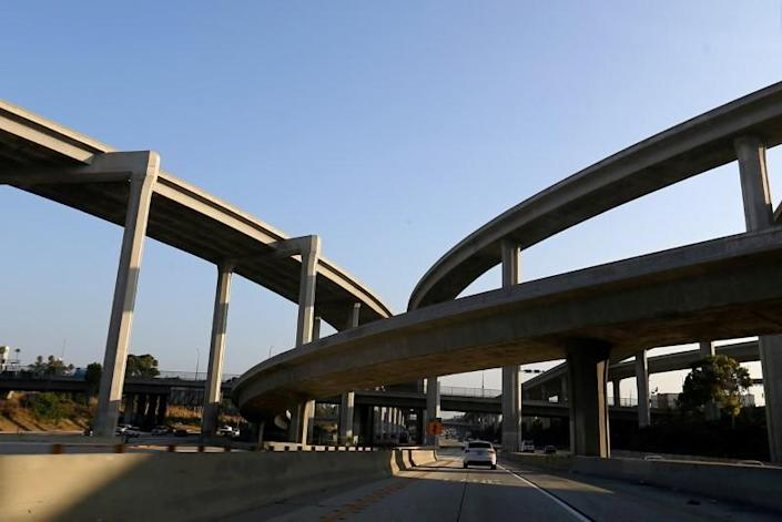 FILE PHOTO: The highway system in Los Angeles