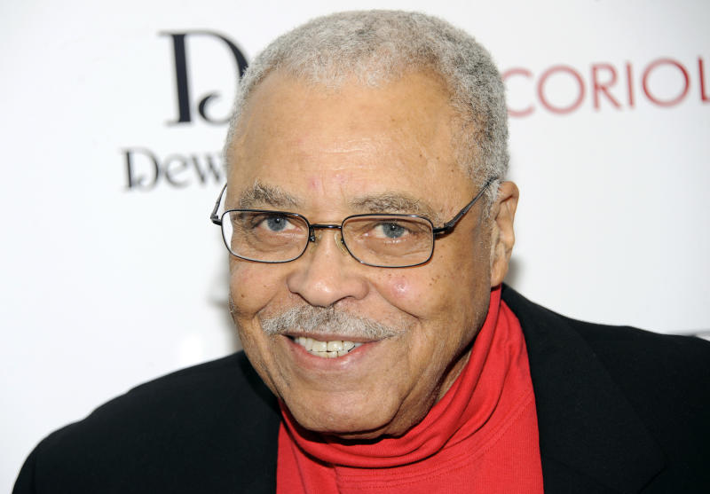 "FILE - This Jan. 17, 2012 file photo shows actor James Earl Jones attending the premiere of ""Coriolanus"" at the Paris Theater in New York.  Jones has been named the 2012 recipient of the Marian Anderson Award, which honors artists whose leadership benefits humanity. The critically acclaimed stage and screen actor will accept the award at a Nov. 19 gala at the Kimmel Center for the Performing Arts in Philadelphia. (AP Photo/Evan Agostini, file)"