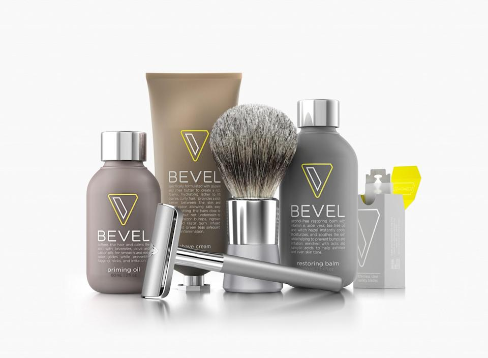 """<p>""""In 2016, we announced partnerships with Target and Amazon, which was a very exciting time for us,"""" says a Walker & Company spokesperson. """"Whether you already have a Bevel Shave System subscription and need a Bevel Razor while traveling or a little extra Bevel Shave Cream to tide you over until your next shipment, our a la carte products are a great complimentary option to our existing products and services. It's our vision to have every single household in the world know and love our brands."""" Visit <a rel=""""nofollow noopener"""" href=""""https://getbevel.com/?coupon_code=fmfopt"""" target=""""_blank"""" data-ylk=""""slk:Bevel"""" class=""""link rapid-noclick-resp"""">Bevel</a> for more info. </p>"""