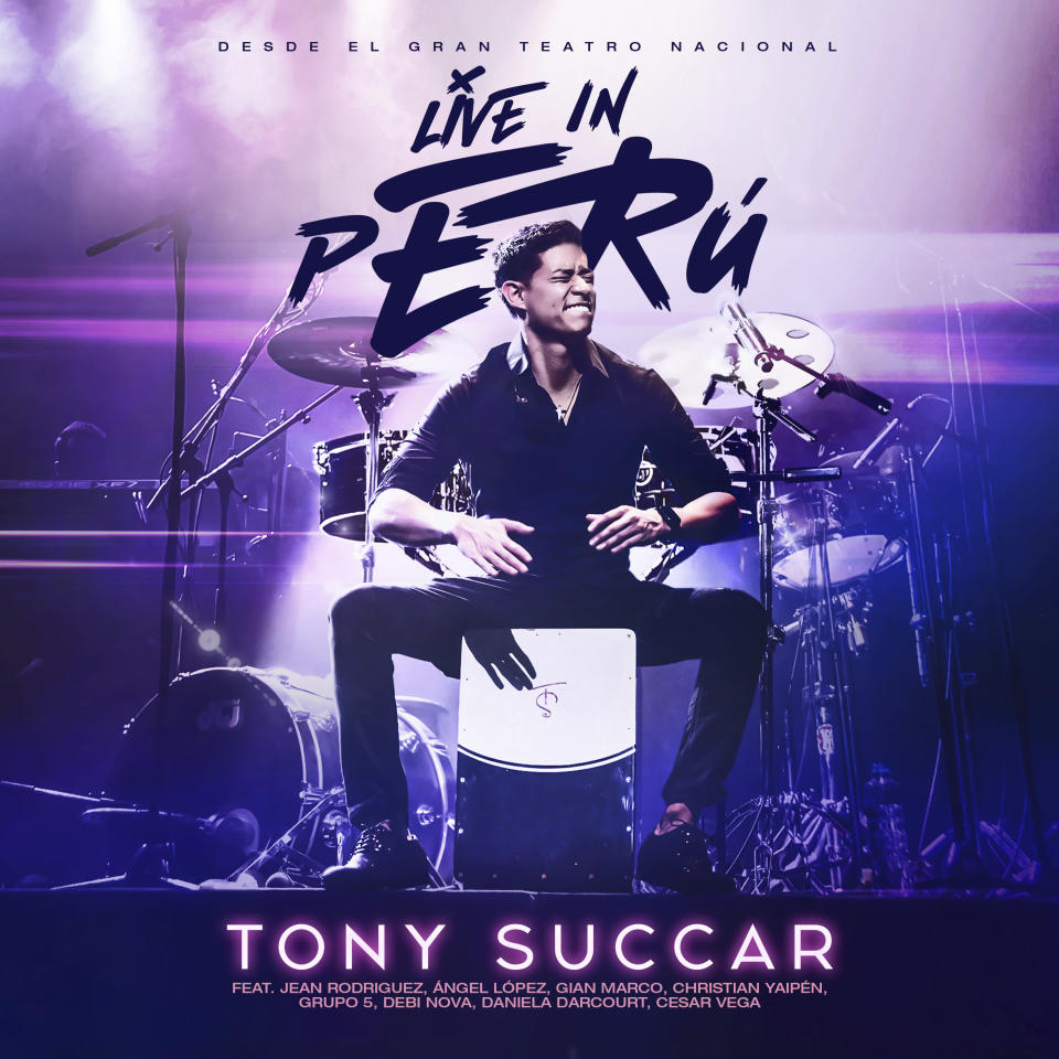 """This cover image released by Sony Music Latin shows """"Live in Peru,"""" a new album by Tony Succar. (Sony Music Latin via AP)"""