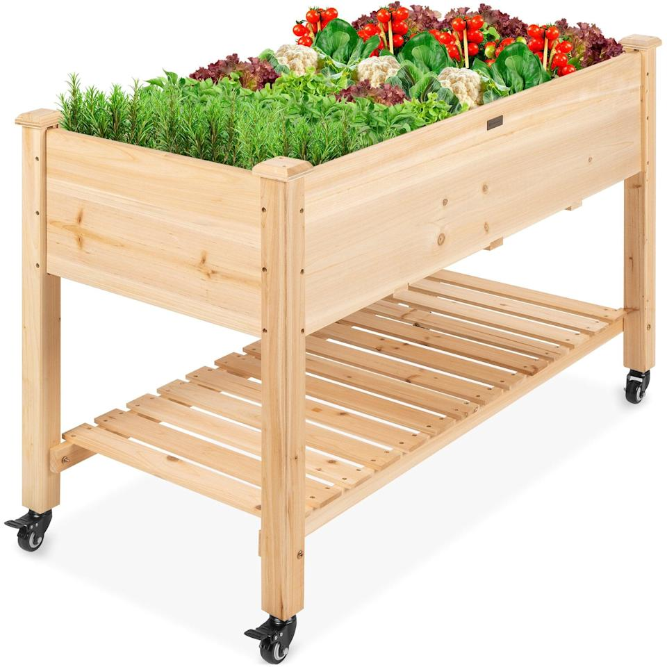<p>Create your own herb garden with the <span>Best Choice Products Raised Garden Bed</span> ($115, originally $200).</p>