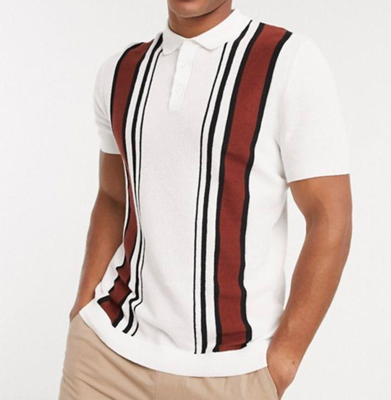 """<p><strong>Topman</strong></p><p>asos.com</p><p><strong>$37.60</strong></p><p><a href=""""https://go.redirectingat.com?id=74968X1596630&url=https%3A%2F%2Fwww.asos.com%2Fus%2Ftopman%2Ftopman-knitted-polo-in-off-white-burgundy-stripe%2Fprd%2F14636340%3FcolourWayId%3D16632308%26cid%3D28034&sref=https%3A%2F%2Fwww.esquire.com%2Fstyle%2Fmens-fashion%2Fg32631767%2Fsummer-mens-fashion-memorial-day-sale%2F"""" rel=""""nofollow noopener"""" target=""""_blank"""" data-ylk=""""slk:Buy"""" class=""""link rapid-noclick-resp"""">Buy</a></p><p>A polo perfect for embracing your inner grandpa, in the best way possible. </p>"""