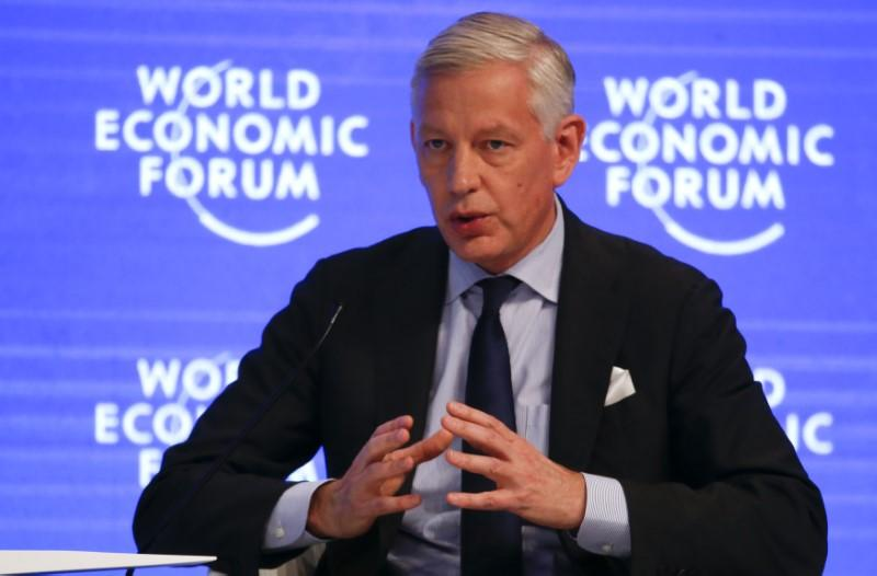 Dominic Barton, Global Managing Partner, McKinsey & Company attends the annual meeting of the World Economic Forum (WEF) in Davos