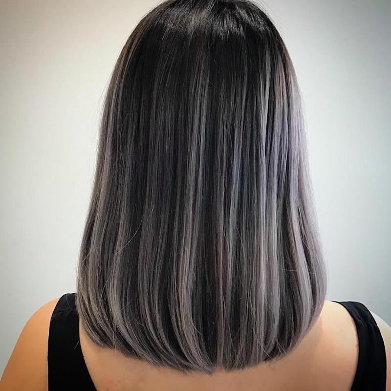Black Hair Silver Highlights Pictures Images Black Hair Surion