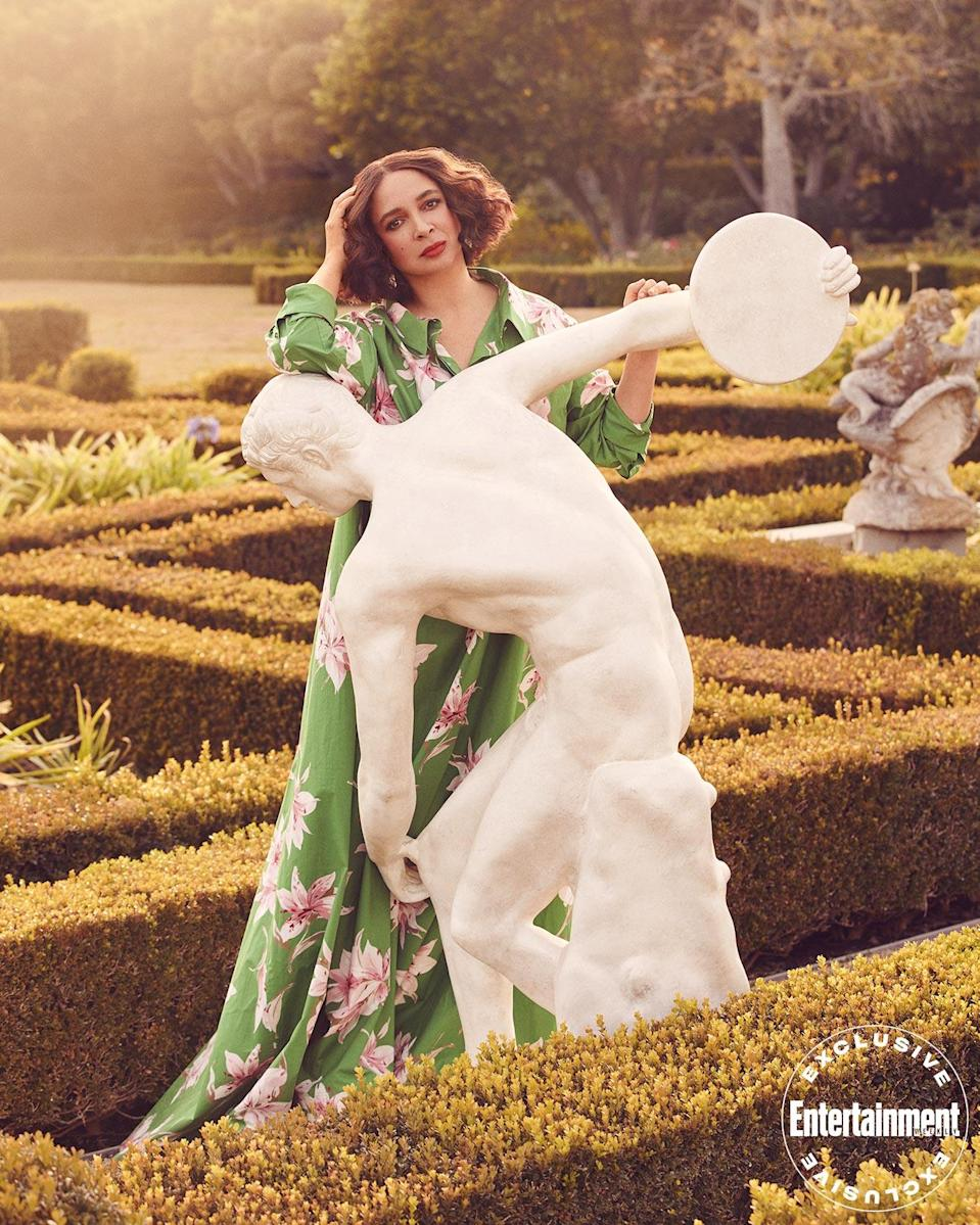 """<p>Rudolph (photographed for EW on Jan. 15 in Los Angeles by Ramona Rosales) tells the magazine that she didn't know for sure that she would be asked to return to <a href=""""https://ew.com/creative-work/saturday-night-live/"""" rel=""""nofollow noopener"""" target=""""_blank"""" data-ylk=""""slk:Saturday Night Live"""" class=""""link rapid-noclick-resp""""><em>Saturday Night Live</em></a> to play then-Senator and POTUS candidate Kamala Harris. But, she admits, """"I smelled it coming. I remember when Tina [Fey] smelled it coming for Sarah Palin. """"</p>"""