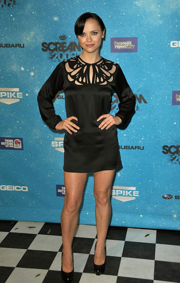 """<a href=""""http://movies.yahoo.com/movie/contributor/1800018567"""">Christina Ricci</a> at the 2009 Spike TV Scream Awards in Los Angeles - 10/17/2009"""