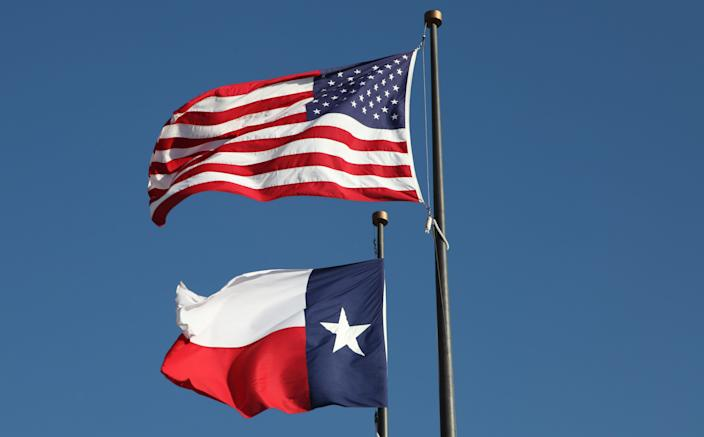 GettyImages texas us flag